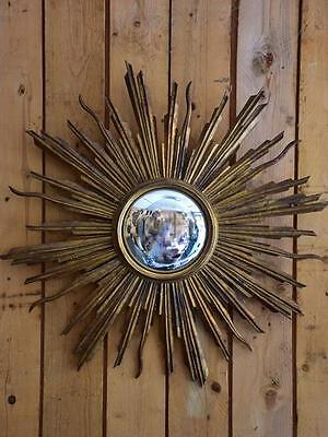 Antique sunburst mirror – gilt wood Vintage sunburst mirror