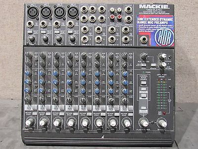 Tested Working Mackie 1202-VLZ Pro 12-Channel MIC/ Line Mixer W/ Preamplifiers