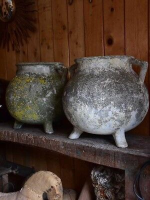 Pair of large vintage French planters pots