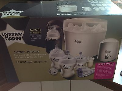 Tommee Tippee Starter Set. Steriliser, Bottles, Bottle Warmer, Bag, Dummy, Teats