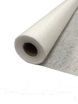 White Non-Woven 100 GSM Fleece Geo Textile Membrane -- Choose Your Size --