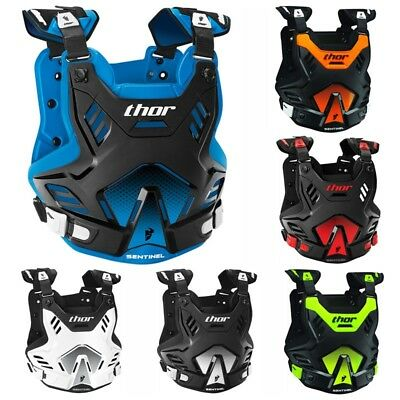 Thor Sentinel Gp Youth Kids Chest Protector Roost Guard Offroad Motocross Atv Mx