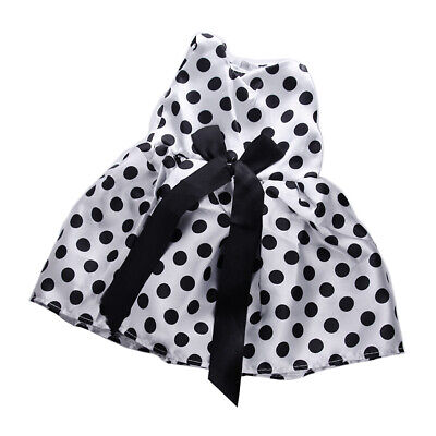 Handmade Zippered Dotted Bowknot Dress for 18'' American Girl Doll Accessory