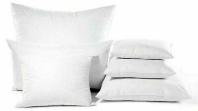 """Duck Feather Cushion Inner Pads Inserts Fillers Scatters 16"""" 18"""" 20"""" 22"""" 24"""""""