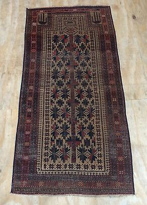 Antique Islamic Baluch Hand Woven Prayer Rug With Unusual Design