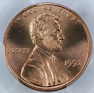 1992 PCGS MS68RD Lincoln Cent