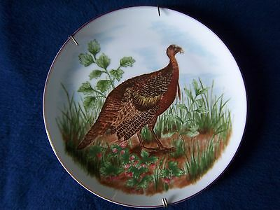 Wild Turkey Plate Sigma Plate Gamebirds By Nancy Carter Made In Japan