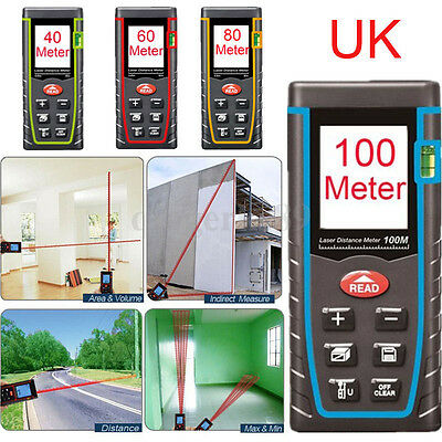 Handheld Digital Laser Point Distance Meter Measure Range Finder 40/60/80/100MM