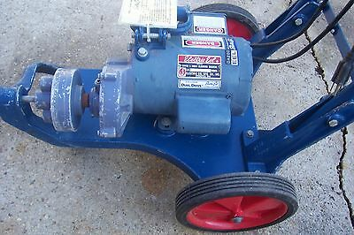 Electric Eel Model C Sewer and Drain Cleaning Machine with Attachments and cable