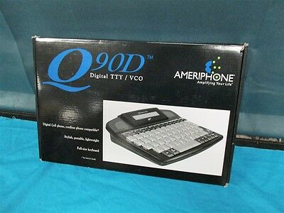 New AMERIPHONE Q90D DIGITAL TTY VCO TSB21 CELL PHONE ANSWER HEARING PORTABLE