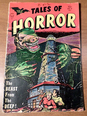 TALES OF HORROR # 7 from 1953 - MINOAN PUBLISHING COMIC - RARE!!!