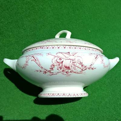 Ancienne Soupiere Luneville K&g Vegetable Covered Tureen French Modele Turgot