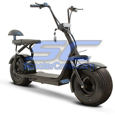 1 Fat Tire Electric Scooter With Seat 1000w Motor 20mph Up To