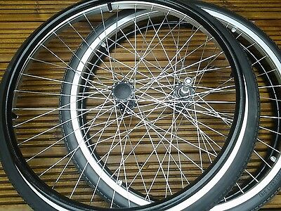Wheelchair Rear wheels 22 x 1 3/8. Invacare /Lomax complete puncture proof