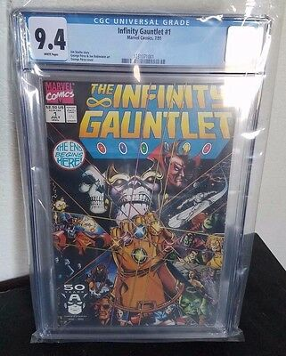 Infinity Gauntlet 1 CGC 9.4 - White Pages Movie Coming Starlin