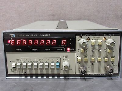 HP Agilent Keysight 5316A Universal Counter Power Tested No Dead LED