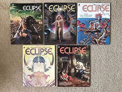 Rare Vintage Eclipse The Magazine Lot Of 5 1980's #1,3,4,5,7