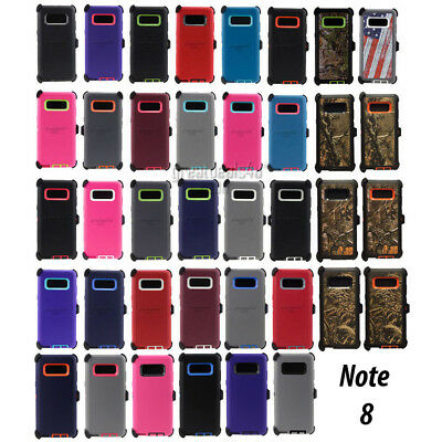 For Samsung Galaxy Note 8 Case w/Screen Protector & Clip Fits Otterbox Defender