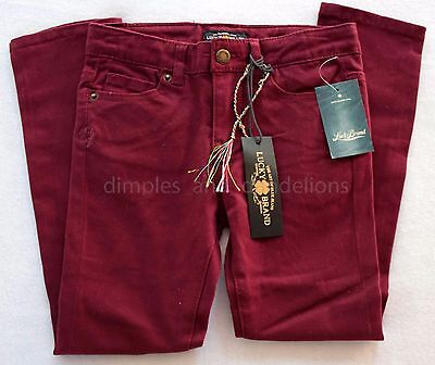 Lucky Brand Kids Girls Maroon Zoe Jegging Jeans Pants NEW Tags Size 6