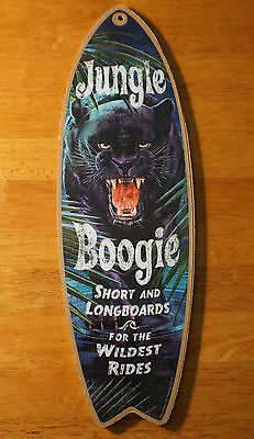 BOOGIE PANTHER SURFBOARD Beach Surf Surfing Longboard Home Decor Board Sign NEW