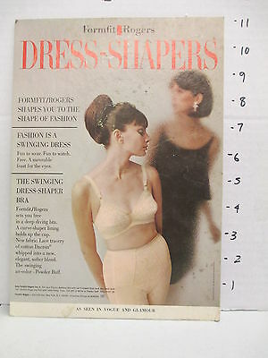 ROGERS FORMFIT 1960s store display sign vintage women's clothing lingerie bra