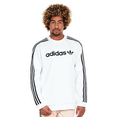 adidas - Linear Crew Sweater White Pullover Rundhals