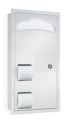ADA Compliant Version -- Bradley 5911 2 Stall Seat Cover, TP Dispenser, Napkin