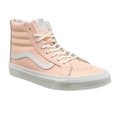eb04df76b4 Vans Sk8 Hi Slim Zip Peach Melba Womens Girls Trainers Hi High Tops Size 4 5