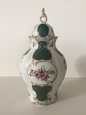 VTG Lindner Germany Hand Painted by Maria Samms Porcelain Covered Urn Vase Jar