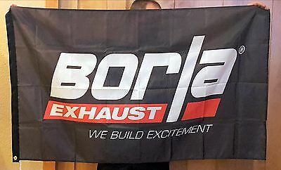 BORLA EXHAUST racing 3x5 flag signs oval drags nhra diesel nascar offroad banner