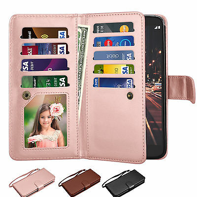 Flip Leather Wallet Case Credit Card Holder Cover For LG Stylo 3 / Stylus 3 Plus