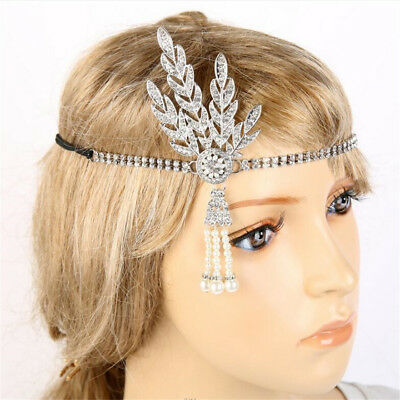 20s 1920s Headband Vintage Bridal Great Gatsby Flapper Costume Accessories HE