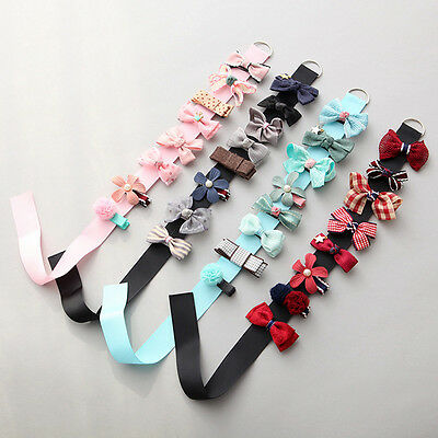 8Pcs/Set Lovely Toddler Girl Hair Clip Ribbon Bow Baby Kids Bowknot Headband New