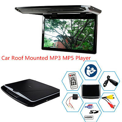 12.1'' In Car Roof Mounted Overhead Flip Down HD Monitor Screen MP5 Video Player
