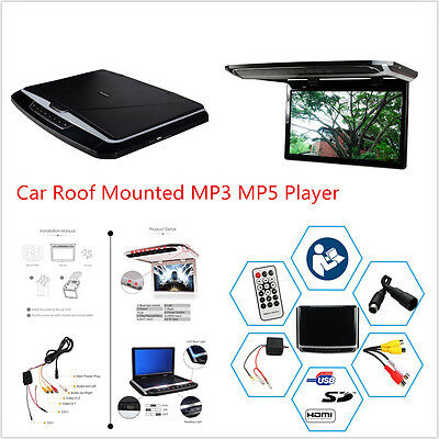 12.1'' In Car Roof Overhead Flip Down HD MP3 MP4 MP5 Video Player SD HDMI Input