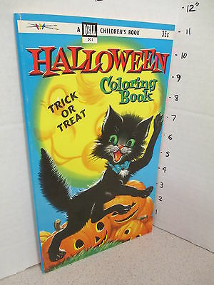 DELL Halloween BLACK CAT pumpkin 1955 comic coloring book unused 80p monster