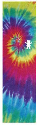 "GRIZZLY SKATEBOARD GRIP TAPE SHEET - 9"" x 33"" - TIEDYE CUTOUT"