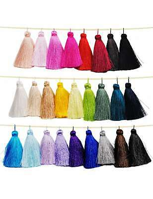 10pcs Silk Tassel Fringe Trim Charm Pendant Craft Sewing Jewelry 65x11mm PWAA15