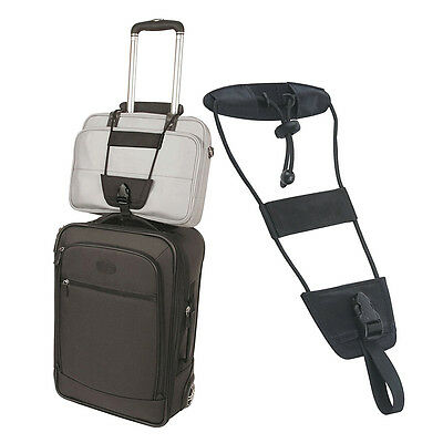 Black Travel Bag Bungee Nylon Vacation Suitcase Luggage Attachment Strap Belt
