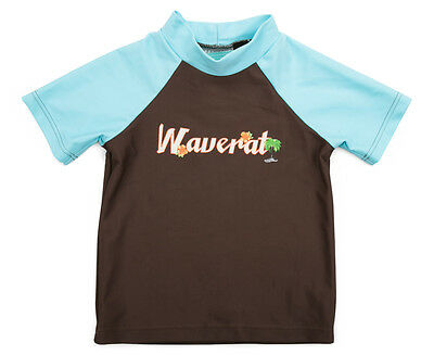 WaveRat Baby/Toddler Boys' Vintage Palm Rash Vest - Brown/Blue