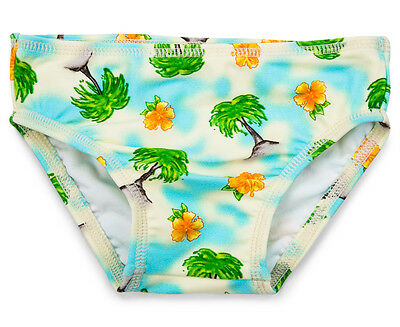 WaveRat Baby/Toddler Boys' Vintage Palm Briefs - Cream/Multi