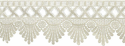 """Venice Lace Scalloped Edge 3-1/2""""X6yd-Ivory, Set Of 6"""