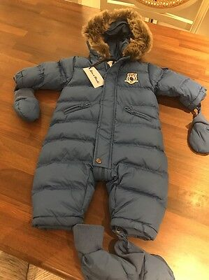 BNWT Baby Boys Tartine Et Chocolat Snow Suit Ski Suit All In One 6m Cost £175