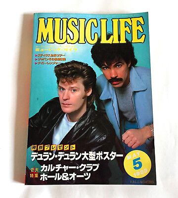 MUSIC LIFE JAPAN MAGAZINE May-1983 w/Poster Duran Duran Hall & Oates Thin Lizzy