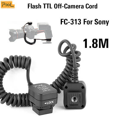 Pixel Flash TTL Off-Camera Cord FC-313/S For Sony specific hot-shoe S-1.8m