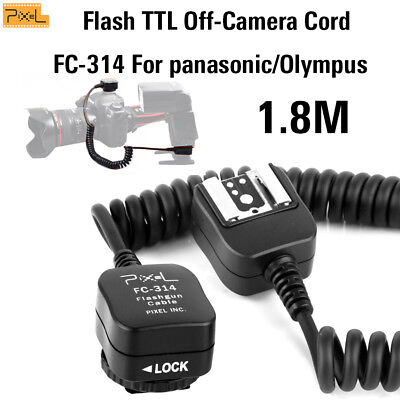 Pixel Flash TTL Off-Camera Cord FC-314 For panasonic/Olympus hot-shoe 1.8m