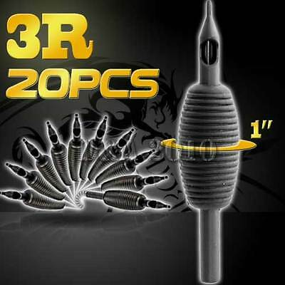 "1""/25mm3RT Pro 20PCS Disposable Sterile Tattoo Grip Tube Tips Silicone Round Tip"