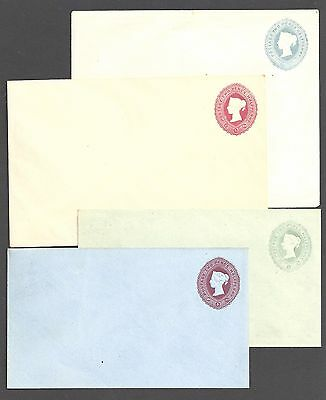 GREAT BRITAIN -  QUEEN VICTORIA QV Postal stationery envelopes - 98261