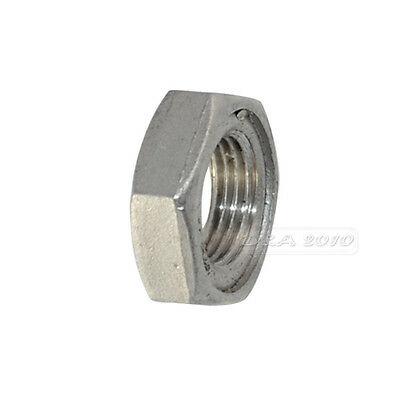"""LOCKNUT 1/2"""" BSPT 304 STAINLESS STEEL HEX LOCK NUT O-Ring Groove Pipe Fitting"""