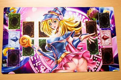 F2031n Free Mat Bag Yugioh Dark Magician Girl Trading Card Game Playmat New Zone